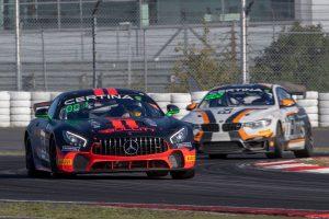 Alex Lambertz im Mercedes AMG GT4 #66 von Bullit Racing bei der GT4 European Series am Nürburgring