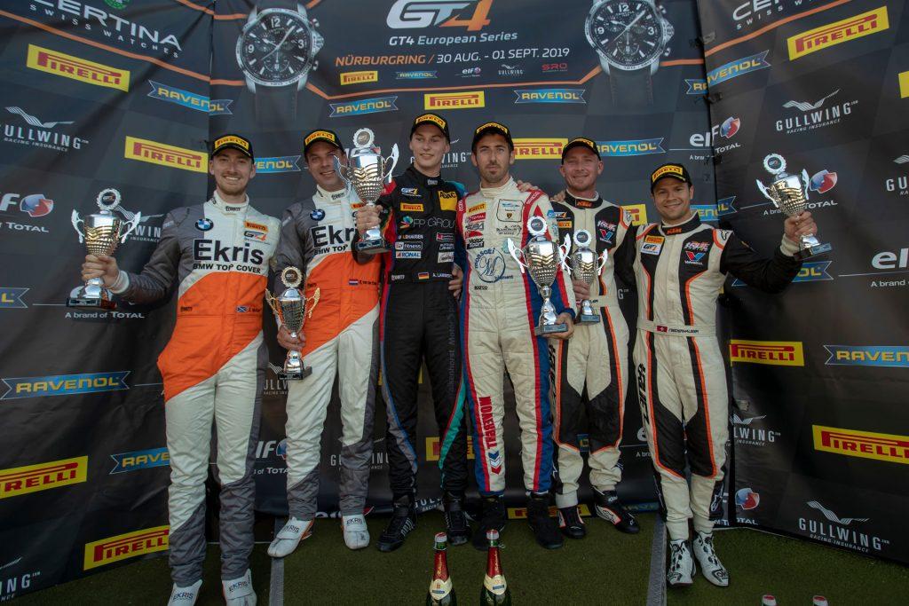 Alex Lambertz und Romain Monti erneut auf dem Podest bei der GT4 European Series